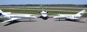 Three charter aircraft.