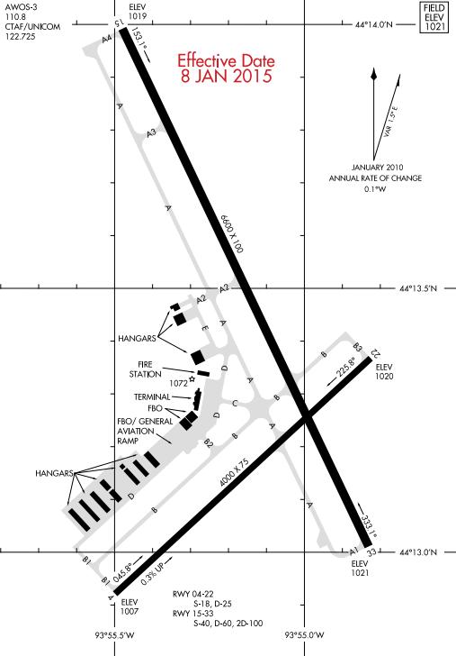 Mankato airport diagram