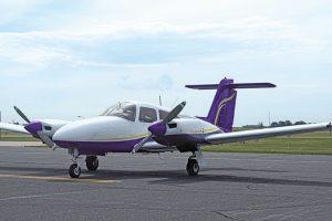 Piper Seminole double engine airplane.